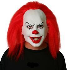 Maschera Clown IT horror capelli rossi Halloween carnevale pagliaccio cosplay
