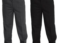 Kids School Sturdy Fit Trousers 4/5Y Up To 13/14Y Plus Size Half Elasticated