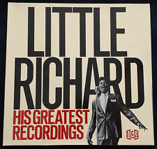 "LITTLE RICHARD LP ""HIS GREATEST RECORDINGS"" ACE RECORDS 1984 IMPORT EXCELLENT"