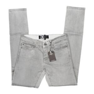 Kill City  Mens Junkie Fit Stretch Twill Smoke Washed Distressed Skinny jeans