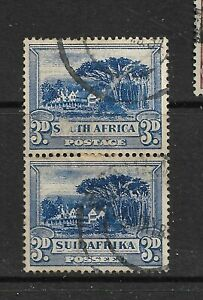 1930-44 SOUTH AFRICA , SG45c CAT £7 VERTICAL PAIR , KGVI, KG6,FINE USED