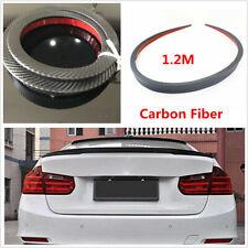 Car Boot Trunk Spoiler Lip Wing Sport Trim Lid Carbon Fiber Decor Sticker 1.2M