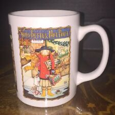 """Mary Engelbreit You Better Not Pout Collectible Mug, 4"""", Me Ink, Excellent 1993"""