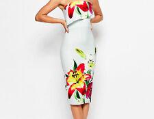 BNWT- True Violet Bandeau Floral Lily Placement Pencil Dress-UK 14 BUT fits UK10