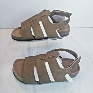 BEARPAW Girls Toddler Zaidee Strappy Casual Beach Sandals Hickory Pick Size