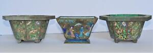 Antique Chinese Cloisonne Enamel on Copper Planters