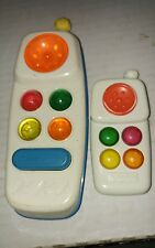 2 Vintage Fisher Price Cordless Phones One Battery (Works) One Rattle #1114 & ?