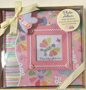 Jenny & Jeff Baby Girl Keepsake Photo Album in Gift Box - Holds 100 Photos - NEW
