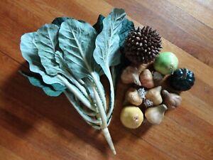 Realistic - Papier Mache & Plastic Fruits and Vegetables – 2 pounds - 11 pieces