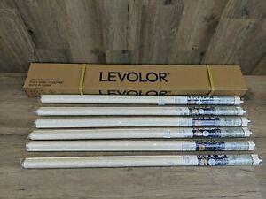"""Set of 6 Levolor 37 1/4"""" x 78"""" Room Darkening Vinyl Roller Shade Cream (#171)"""