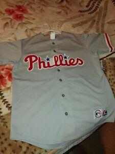 LENNY DYKSTRA Philadelphia Phillies 1993 Majestic Throwback Away Baseball Jersey