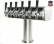Stainless Steel Draft Beer Tower Made in Usa -6 Faucets - Air Cooled - Ttb-6Ss