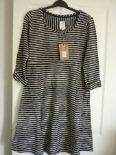 MANTARAY NAVY STRIPED TEXTURED JERSEY SKATER DRESS UK 14, EUR 40-42, US 10 BNWT