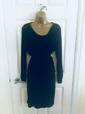 M&S Collection Black Wrap Long Sleeve Office Party Work Wear Midi Dress £49