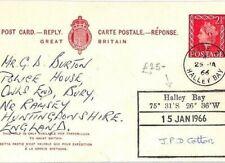 GB Stationery Card ANTARCTICA Base Z *Halley Bay Research Station* 1966 CB275