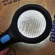 Portable 3X 8X 10 LED Illuminated Handheld Magnifier Reading/Stamp Collection