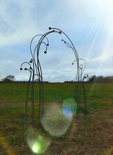 Garden Arch Archway Steel Gateway Rose Organic Whimsical Bare Metal Pathway Path