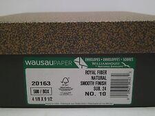 Royal Fiber Envelope #10 24lb Natural SMOOTH 500/box 24lb text 30% RECYCLED