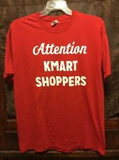 ATTENTION K-MART SHOPPERS ~ Men's XL ~ VTG NEW ~ Shopping is FUN Again ~ T Shirt