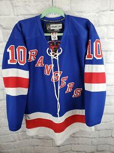 NHL Reebok CCM Marian Gaborik #10 New York Rangers Hockey Jersey 50 Fight Strap