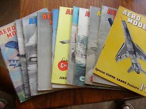 VINTAGE JOB LOT X 11 1955  AEROMODELLER  MODEL AIRCRAFT MAGAZINES