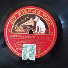 78 rpm ALFRED CORTOT LONDON SYMPH ORCH SCHUMANN OP54 N6 DB1061 HMV Landon Ronald