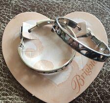 Brighton Silver CONTEMPO HOOP Earrings NWT