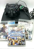 Sony PlayStation 3 PS3 CECH-2501A Slim Bundle 160GB Controllers Blazblue Assass