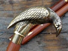 Brass parrot Designer Canes~Antique Wooden Walking Stick~Vintage Nautical Canes