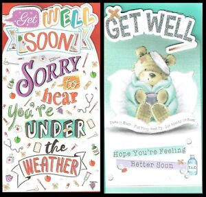 GET WELL SOON CARD ~ From the PLATINUM COLLECTION  ~ Choice of Design ~ L@@K