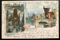 1902 Danzig Germany Christmas Greetings Postcard Cover To Berlin