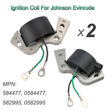 2Pcs Ignition Coil For Johnson Evinrude Replaces 584477 0584477 582995 0582995