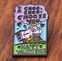 Simpsons enamel pin Happy Valentines I choose you retro 90s ralph hat lapel bag