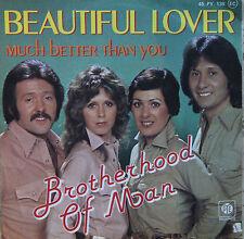 "Vinyle 45T Brotherhood of man  ""Beautiful lover"""