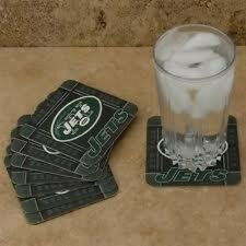 NEW YORK JETS - NFL Absorbent Paper Coasters :Set of 8 Per Pack - NEW !