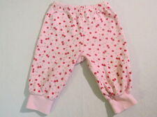 "Gymboree ""Cherry Hearts"" Pink Cherry Hearts Athletic Sweat Pants, 3-6 mos."