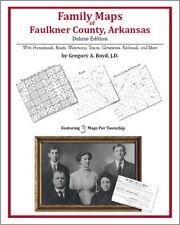 Family Maps Faulkner County Arkansas Genealogy AR Plat