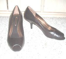 *Sexy* BANDOLINO *Yaya* Leather Open-Toe Heels~Dark Brown~Size 10.5 M