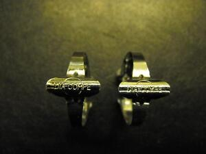 2x VINTAGE 70's MADE DIA COMPE CABLE CLIPS GENUINE EROICA SCREW FIT CABLE CLIPS