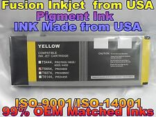 Epson Stylus Pro 4800 Yellow T565400 pigment ink cartridges y not oem tank gtt