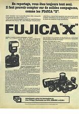 PUBLICITE  ADVERTISING 1980    FUJICA X  appareil photo