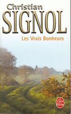 Livre Poche les vrais bonheurs Christian Signol book