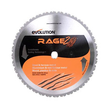 Evolution Rage Multipurpose TCT Blade 355 mm for Saw Cuts Steel, Aluminium, Wood