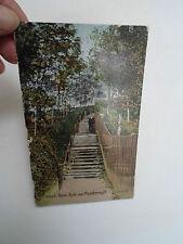 Rare Colour Vintage Postcard Steps, Danes Dyke nr Flamborough Franked + Stamped