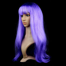 Multicolor Synthetic Hair Wig Costume Long Straight For Anime Cosplay Party