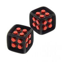 2x Lego Spiel Würfel schwarz rot Gummi Gehäuse Spiele Games 64776