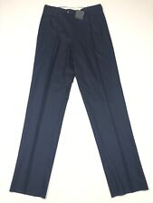 NEW Giorgio's Palm Beach Men's Wool Pleated Pants Navy Blue • 50 IT / 34 US