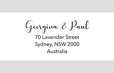 60 x Personalised Return Address Labels Stickers Calligraphy Wedding RSVP Invite