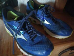 MIZUNO WAVE INSPIRE 12 blau gebraucht G 13 48 Jogging Fitness Laufschuhe Running