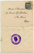 HUNGARY to FRANCE 1913 PRINTED ADDRESS + HANDSTAMP REVERSE CLOSURE